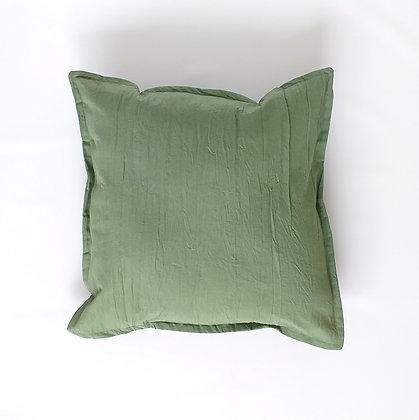 Almohadón Tusor 50x50 Verde Seco