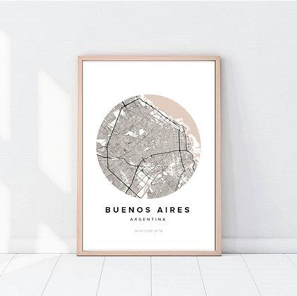 Lámina Buenos Aires Map