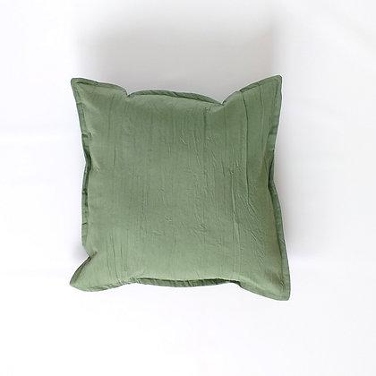 Almohadón Tusor 45x45 Verde Seco