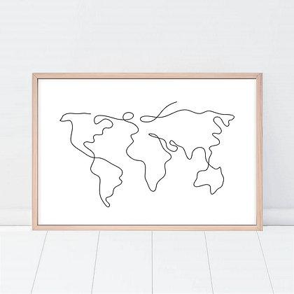 Lámina Drawn World