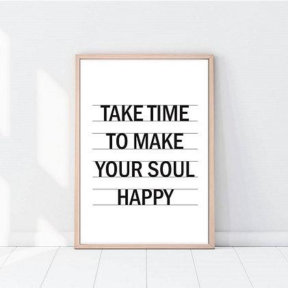 Lámina Take Time