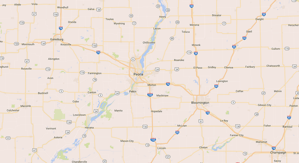 Central Illinois map