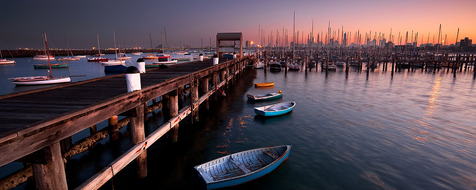 StKilda Boatside Dawn