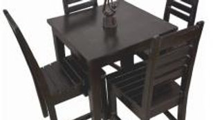 Dining Set 5-piece (Wenge, Slat chair)