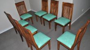 Dining Room Chairs Vertical Slat (Various leather colours)