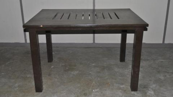 Square Table with Slots (Dark Brown)