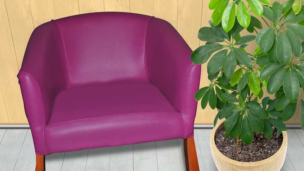 Leather Chair w/ Arm Rest (Various colours)