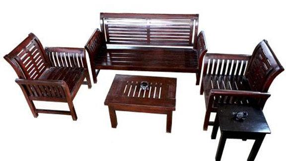 Lounge 4-Piece Linear Set (Brown, Black)