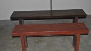 Wooden Bench (Brown, Dark Brown)