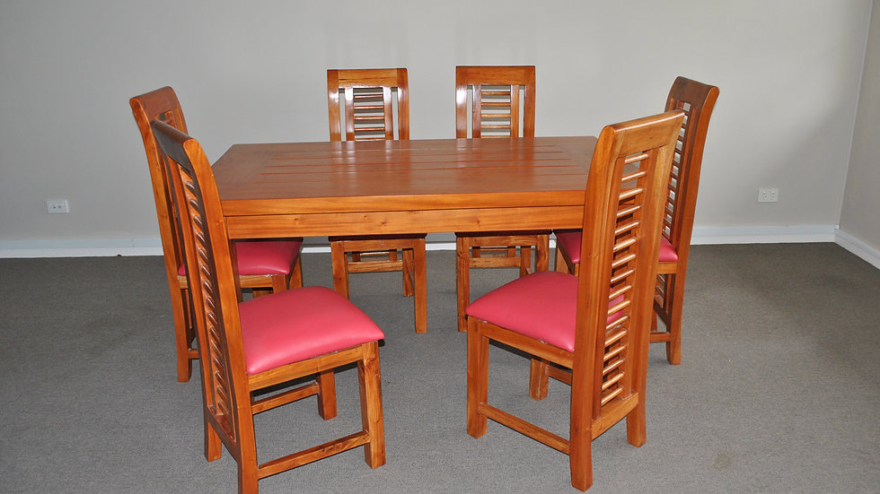 Dining 7-piece w/ Leather Chair Set (Various colours)