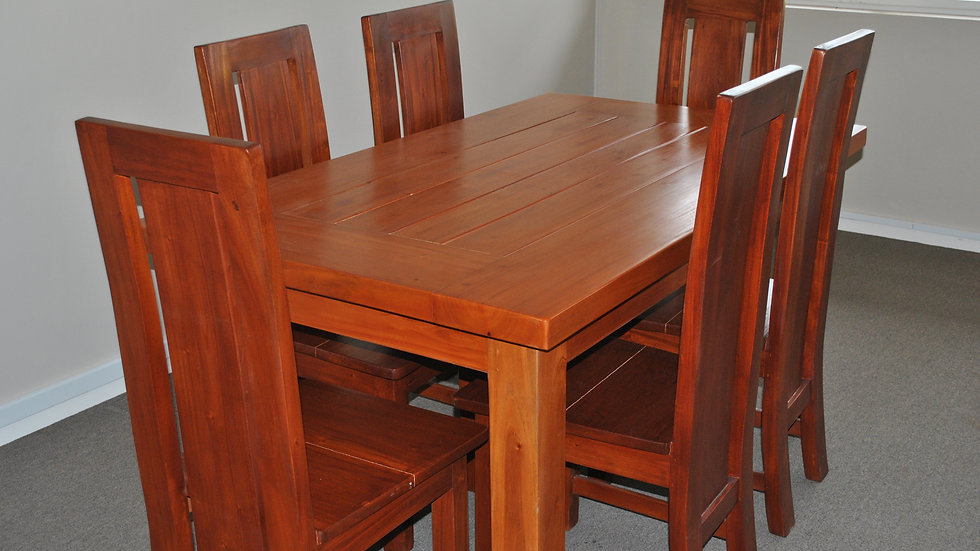 Dining 7-piece All Wood Set (Brown)