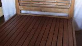 Single/Double Bed w/ Multi Slat Headboard (Brown)