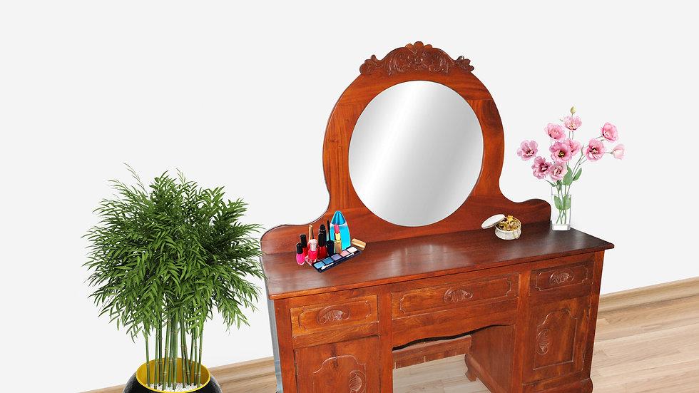 Bedroom Dresser with Mirror (Brown)