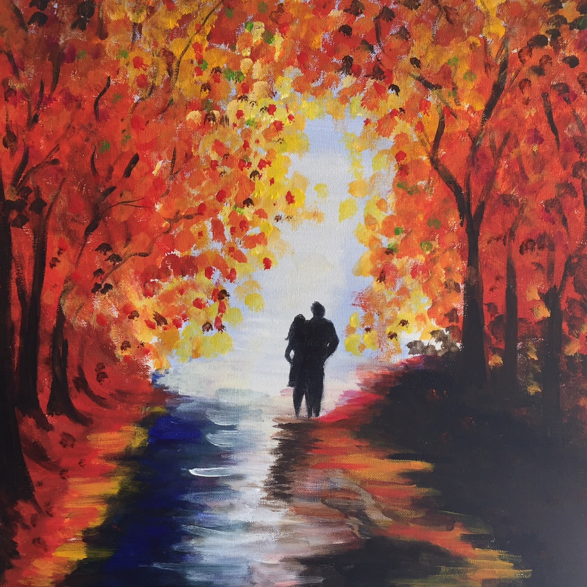 Autumn In The Rain @ Paint Pinot - Studio 1, Braddon, Canberra