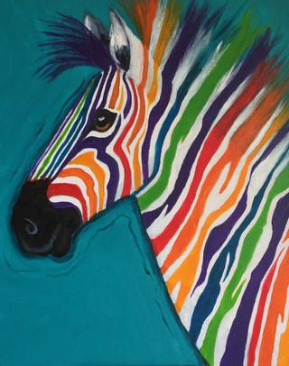 Zebra with Colour