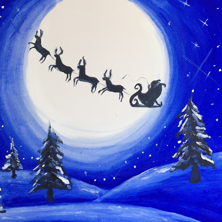 Xmas Reindeers @ Paint Pinot Studio 1 - Braddon, Canberra