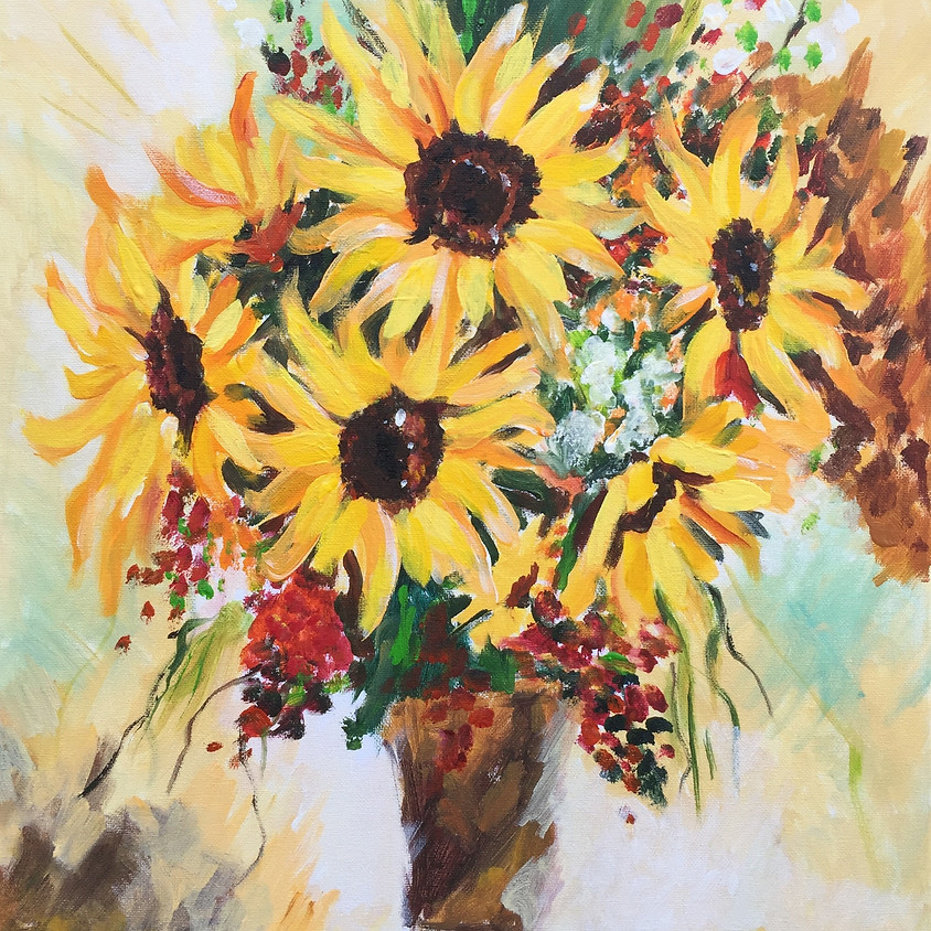 Sunflowers @ Paint Pinot Studio 1 - Braddon, Canberra