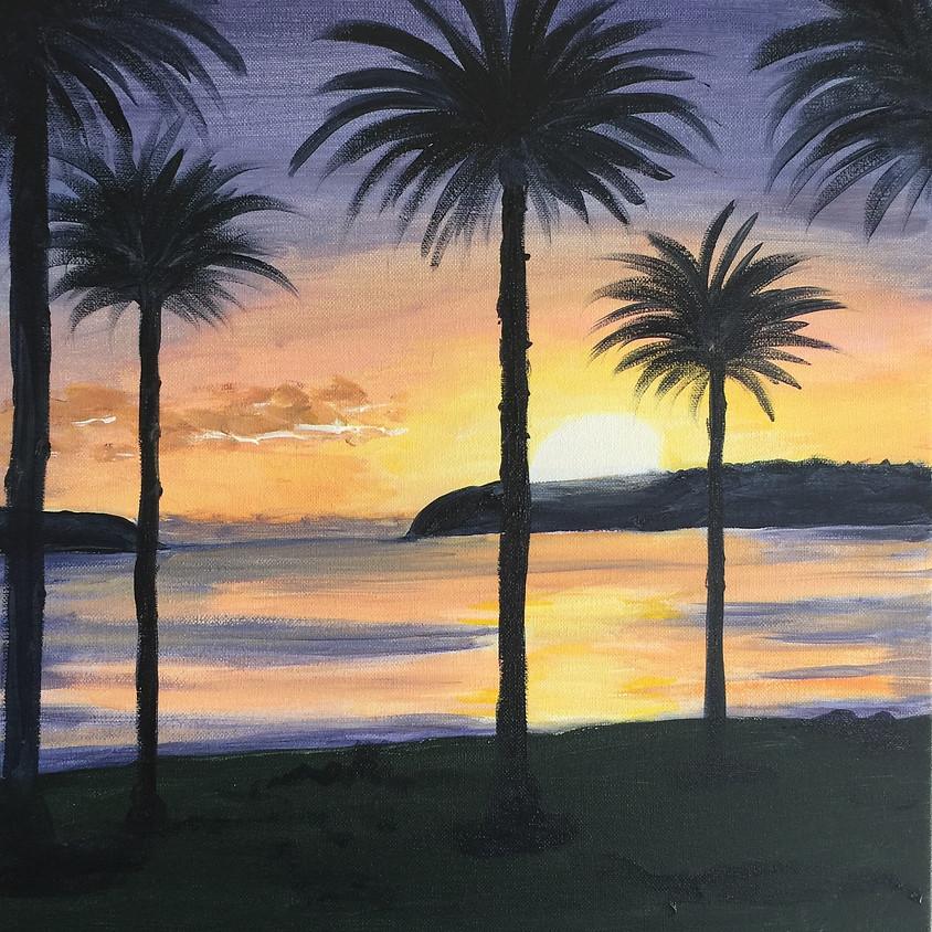 Balmoral Sunrise @ Paint Pinot Studio 1 - Braddon, Canberra