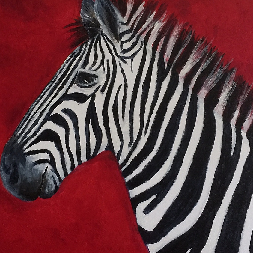 Zebra on Red