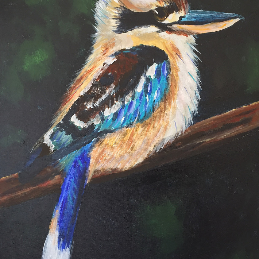 Laugh Kookaburra @ Paint Pinot Studio 1 - Braddon, Canberra