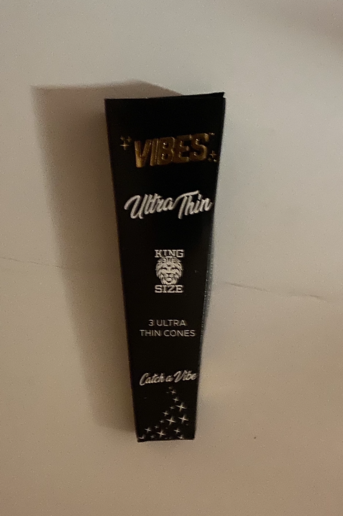 Vibes Ultra Thin King size cones-3 pack