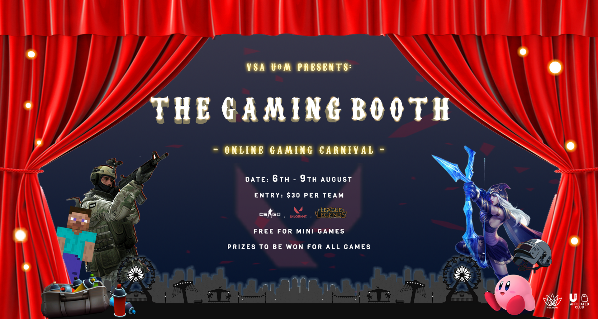 VSA UoM Presents: The Gaming Booth