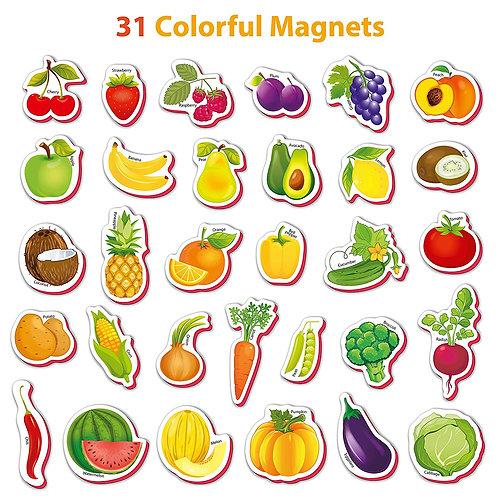Magnético Frutas y Verduras