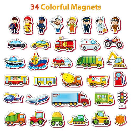 Magnéticos de Profesiones y Transporte