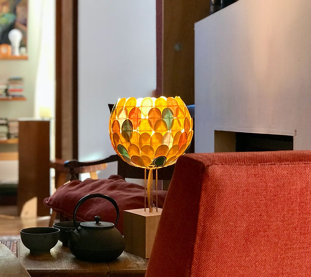 Lampe Olea Millie Baudequin fait main en France design eco responsable marque française de luminaires luminaire design lampe salon decoration eco responsable