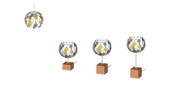 Olea visualisation 3D projet decoration sur mesure bespoke luminaire professionnel made in france marque francaise Millie Baudequin