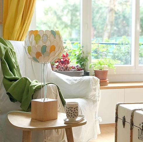 Luminaire Lampe à poser fait main haut de gamme design Olea Millie Baudequin
