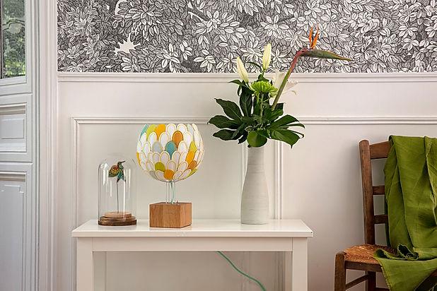 Luminaire salon Lampe à poser fait main personnalisable haut de gamme design francais Olea Millie Baudequin