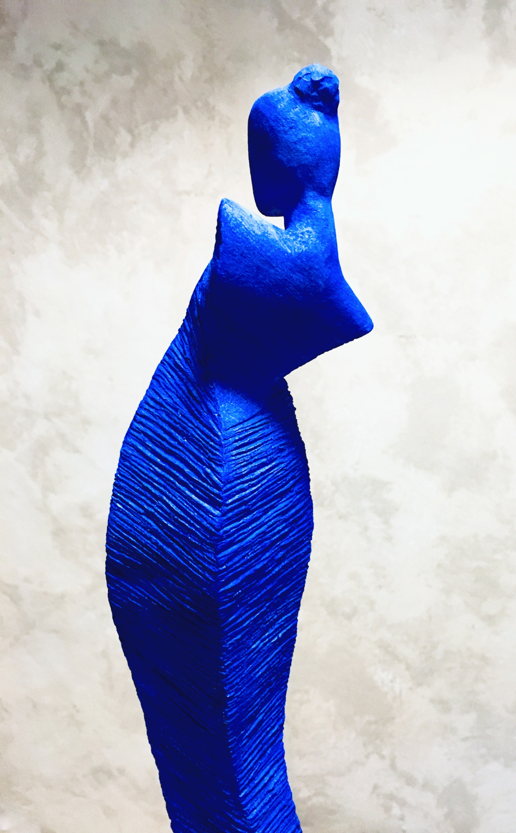 ULTRAMARINE, patinated terracotta