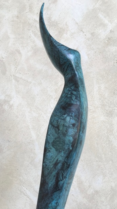 BLUE NOTE , patinated bronze