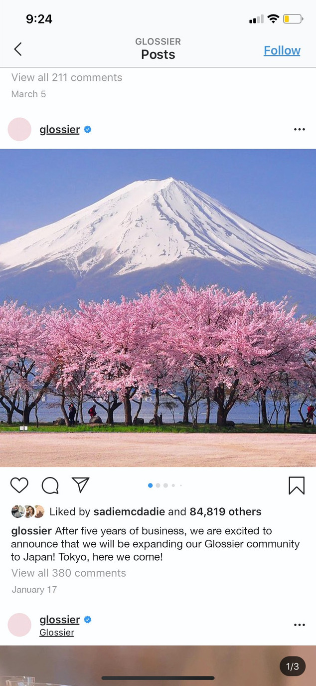Glossier Japan