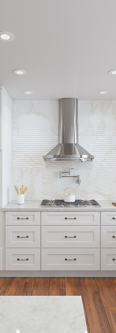 White Painted Shaker Style Kitchen