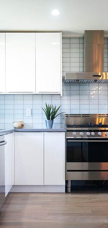 White High Gloss Flat Style Kitchen