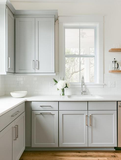 Grey Painted Shaker Style Kitchen