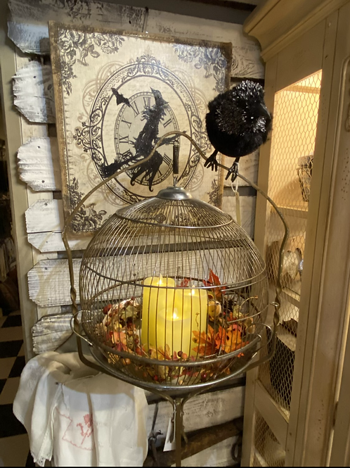 Vintage Birdcage with Stand