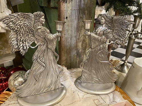 Set of Pewter Angels