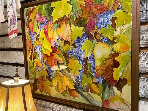 Vineyard In The Fall ( Original Art Piece)