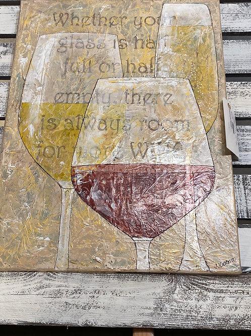 Wine Glass Painting (Original Painting)