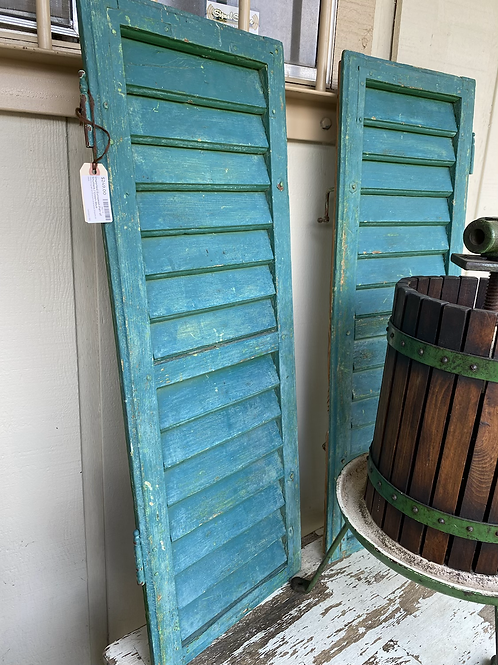 Pair of Imported European Shutters