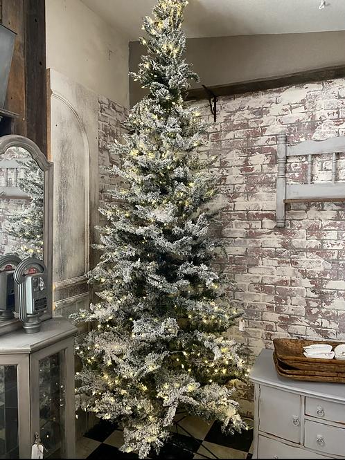 Flocked 12ft Christmas tree