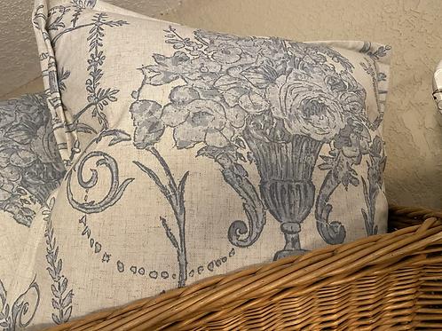 French Quarter Blue Pillow