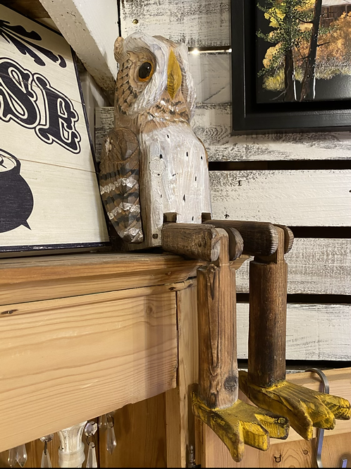 Articulated Wooden Owl