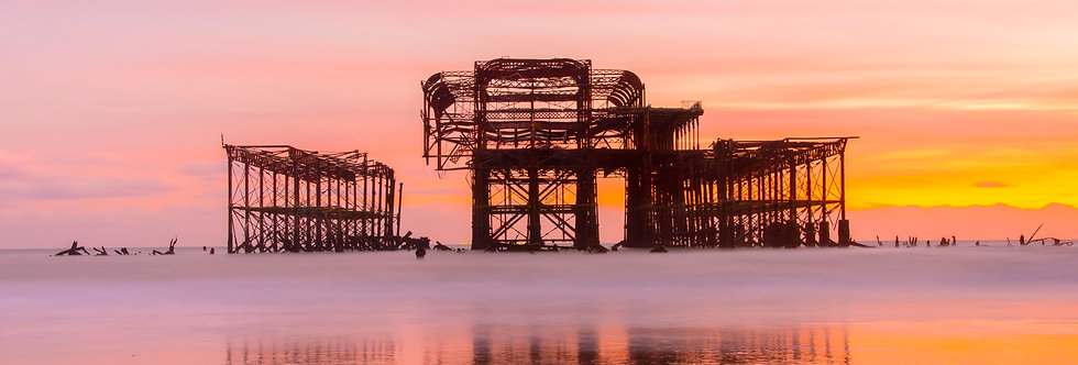 Brighton West Pier - Burning Sunset