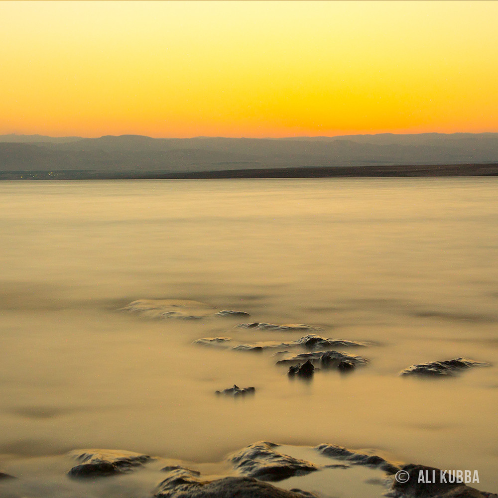 The afterglow of a Dead Sea sunset