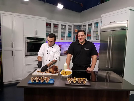Chef Larry & his brother Peter on Fox 4 news