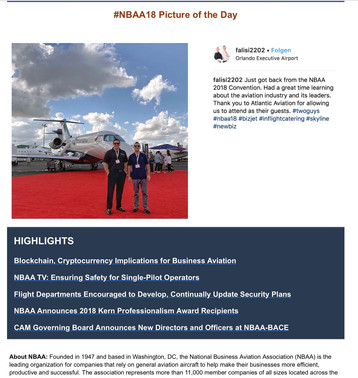 #NBAA18 picture of the day